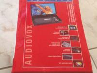 "Audiovox 10.2"" portable widescreen dvd player 2 floding"