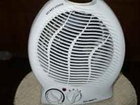 1500 watt fan forced electric heater with thermostat &