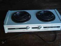Portable Electric Hot plate, with two burners. Very
