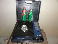 portable gas stove---thunder range---includes 2 bottles