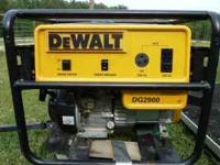 Dewalt Generator 2900 w/Honda Engine , very quiet. Like