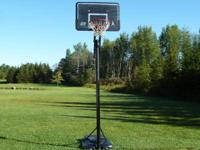 Portable Lifetime basketball hoop, $40.
