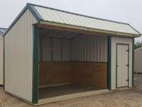 10'x18' Loafing shed, with 6' Tack room, horse barn,