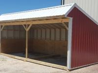 12'x24' Loafing shed, horse barn, animal shelter,