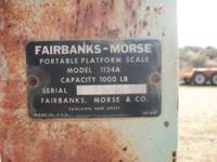 Fairbanks- Morse Platform Scale 1000 lb capacity Call