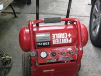This is a Porter Cable air compressor, 150 PSI 6.0 SCFM