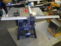 "Porter Cable PCB270TS 10"" Heavy Duty Table Saw Nice"