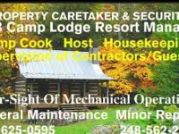 POSITION WANTED: STATEWIDE: CAMPGROUND HOST/PROPERTY