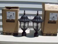 2 outdoor post lamps made by SAVOY HOUSE. New, never