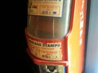 old postage stamp vending machine