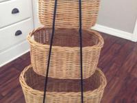 Like new Pottery Barn 3 tier basket storage, greats for
