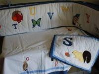 Pottery Barn Animal Alphabet crib or toddler bedding
