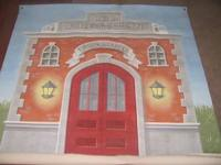 Super cute Firehouse canvas wall mural Pet and smoke