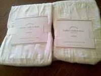 PAIR OF NEW STANDARD POTTERY BARN HADLEY RUCHED SHAMS