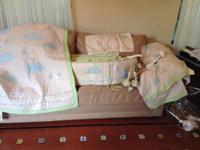 Pottery Barn Kids Unisex Stork Crib Bedding set in