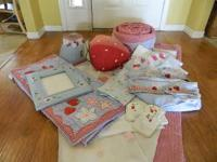 Pottery Barn Kids Sweet Strawberry Nursery Set - Crib