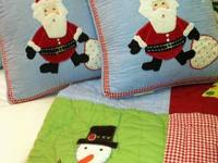 125 FOR ALL TWO QUILTS TWO PILLOWS TWIN SIZED CHRISTMAS