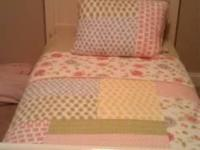 "High quality PBK ""Lily"" quilt set. Has twin size quilt,"