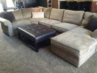 2 year old gently used pottery barn Pearce sectional.