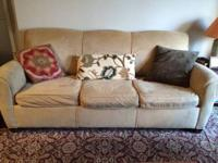 Pottery Barn couch for sale with a pull out sofa bed