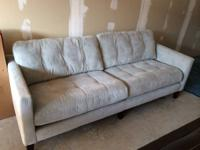 Almost new, barely used sofa.  $350.  Also have