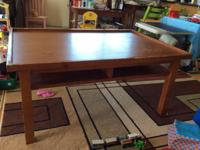 I have a pottery barn real wood train table comes with