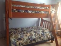 Twin size Pottery Barn Bunk Beds w/mattresses.