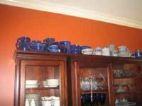A variety of pottery including churns (big and small),