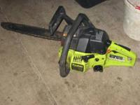 "Poulan 14"" chainsaw starts ans runs great call"