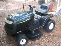 "38"" cut 15.5 hp poulan mower/lawn tractor, runs great,"