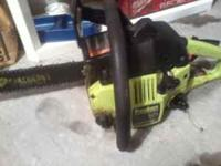 got a like new Poulan chainsaw with a 16 inch bar.