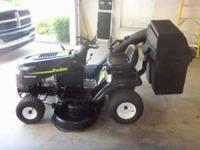 18 Hp, 42 inch cut, 6 speed with bagger, needs new