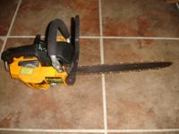 The Saw operates perfectly it starts first pull and