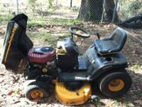 This lawn mower is 5 or 6 years old, a tire went flat