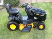 "For sale is a Poulan Pro 19HP 42"" cut riding lawn mower"