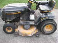 This is a used Poulan Pro 20 HP Briggs Engine mower
