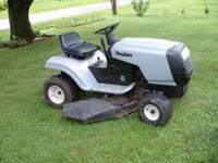 Poulan riding lawn mower. This mower starts, runs &