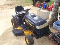 poulan 42inch 17hp riding mower runs good needs