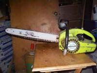I have A Poulan Chainsaw with A new bar and chain.I