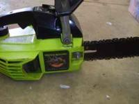 "GREAT RUNNING LITTLE CHAINSAW I THINK ITS A 15"" BAR"