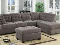This  2-piece sectional sofa features a reversible