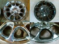 POWDER COAT YOUR SET OF 4 STEEL OR ALUMINUM RIMS!!