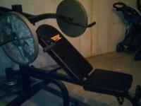 I'm offering my Power Drive workout weight bench. I