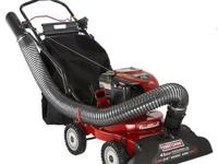 The Craftsman Chipper/Shredder Yard Vacuum Picks It Up