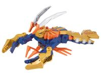 The Power Rangers Samurai ClawZord morphs from battle