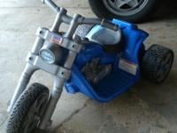 Harley Davison Power Wheels three wheeler for ages 1-3