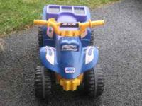 I have a power wheels that my husband went and got a