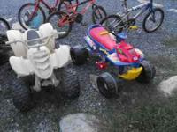 2 Power wheels. Both run perfectly. One no charger and