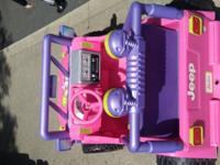 I have a power wheels jeep 'Barbie'. I'm selling it