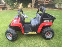 12v Power Wheels Arctic Cat Ride On. Comes with charger